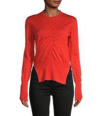 maglieria donna front ruched sweater