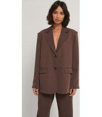 hoss x na-kd oversize blazer - brown