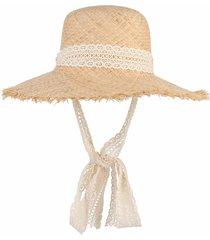 simple hats large raffia straw lace ribbon lace-up beach caps panama sun summer