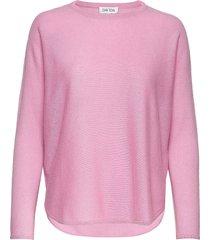 curved sweater stickad tröja rosa davida cashmere