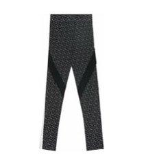 burberry legging com estampa monogramada - preto