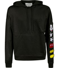 iceberg mickey mouse patched hoodie
