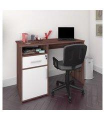 mesa escrivaninha artany hall home office 1 gaveta 1 porta