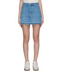 'bonny' released hem frayed mini skirt