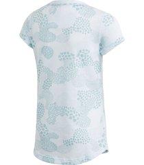 camiseta adidas jg mh gra azul
