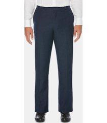 cubavera men's flat front textured linen pants