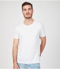camiseta mm docthos rl slim mlh grid pima 134 azul royal eg branco. - branco - masculino - dafiti