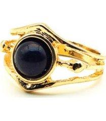 anillo piedra dorado i-d