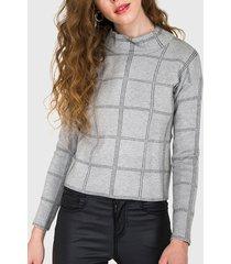 sweater io fantasía gris - calce holgado