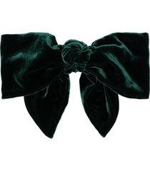 jennifer behr celine bow hair clip - green