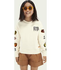 scotch & soda relaxed-fit graphic sweatshirt