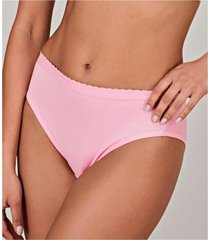 calcinha cavada lithos cotton demillus 56014 t.p/xg rosa  - rosa - feminino - dafiti