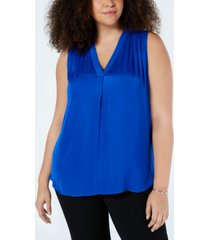 vince camuto plus size v-neck sleeveless blouse