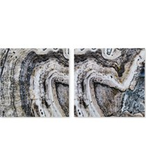 ink+ivy cool stone 2-pc. gloss-coated canvas print set