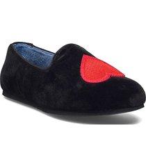 hums velvet heart loafer loafers låga skor svart hums