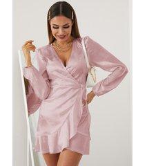 yoins jacquard wrap diseño mini vestido