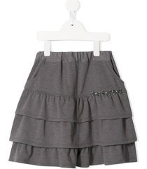 familiar tiered jersey skirt - grey