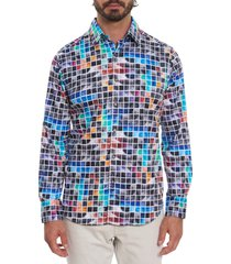 men's robert graham picturesque classic fit stretch button-up shirt, size small - none