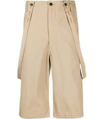 visvim jumbo pastoral suspender shorts - brown