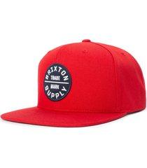 men's brixton 'oath iii' snapback cap - red