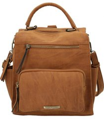 mochila caprii backbag café hush puppies