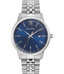 bulova men's classic stainless steel bracelet watch 41mm