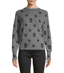 printed cashmere sweater