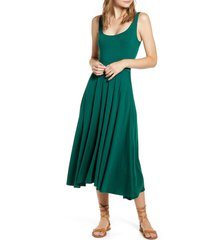 women's reformation rou midi fit & flare dress, size x-small - green