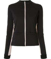 vaara blake thermal cropped jacket - black
