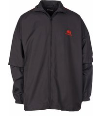 balenciaga double sleeve zip-up jacket