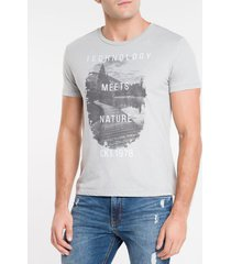camiseta masculina technology ckj 1978 cinza calvin klein jeans - pp