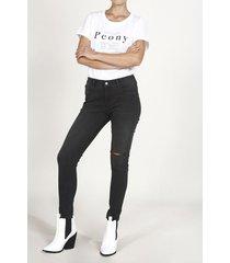 jean topmark, silueta poppy tiro medio, plano y cintura con pretina