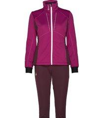 murto w xct softshell set outerwear sport jackets paars halti