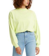 levi's women's nina mock neck sweatshirt