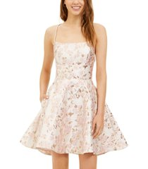 b darlin juniors' lace-up a-line dress