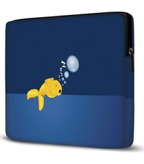 capa para notebook fish sleeping 15.6 a 17 polegadas
