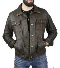 frye men's leather trucker jacket