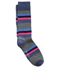 travel tech stripe mid-calf socks, 1-pair