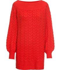maglione lungo con scollo a barca (rosso) - bodyflirt