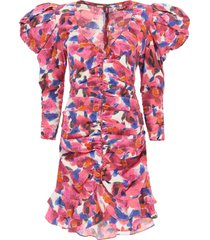 isabel marant mireya floral mini dress