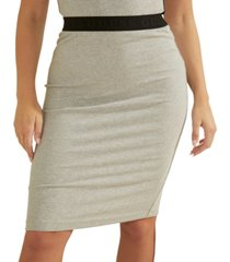 guess amy ribbed pencil skirt