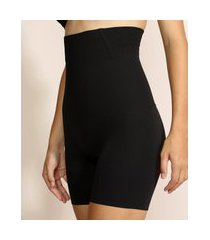 short plié skin modelador abdominal preto