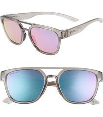 women's smith agency 54mm chromapop(tm) mirrored sunglasses -