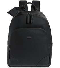 men's ted baker london riviera faux leather backpack - black