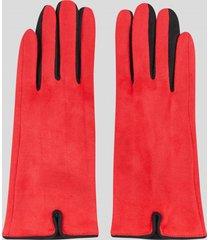 guantes touch gamuza rojo baziani