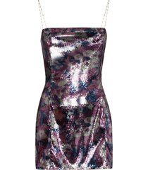 collina strada dolphin party sequinned mini dress - pink