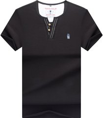 camiseta de manga corta para hombre, color negro.