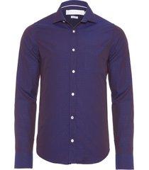 camisa masculina sarjan maquineta constraste - azul marinho