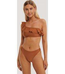 na-kd swimwear högt skuren bikinitrosa - copper