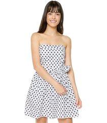 vestido blanco-negro active